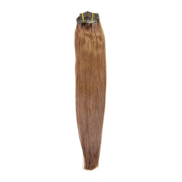 Chocolate Brown 4 Clip In Extensions